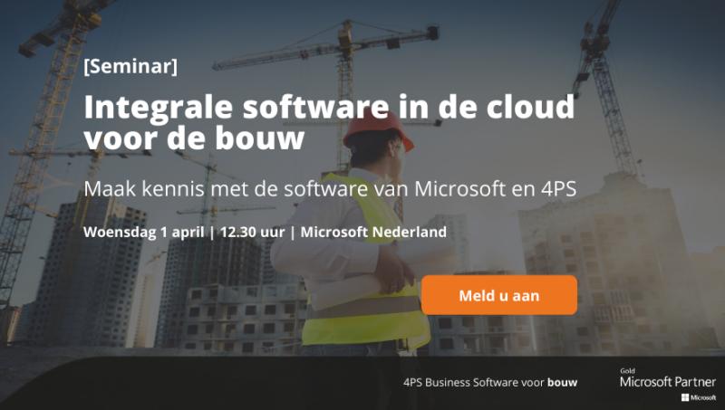 Seminar cloudsoftware voor de bouw