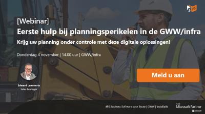 Webinar: Planning in de GWW/infra
