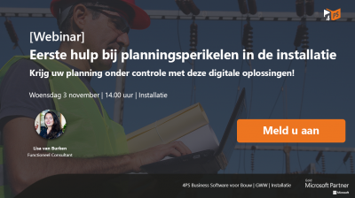 Webinar: plannen in de installatie