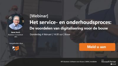Webinar: service en onderhoud bouw