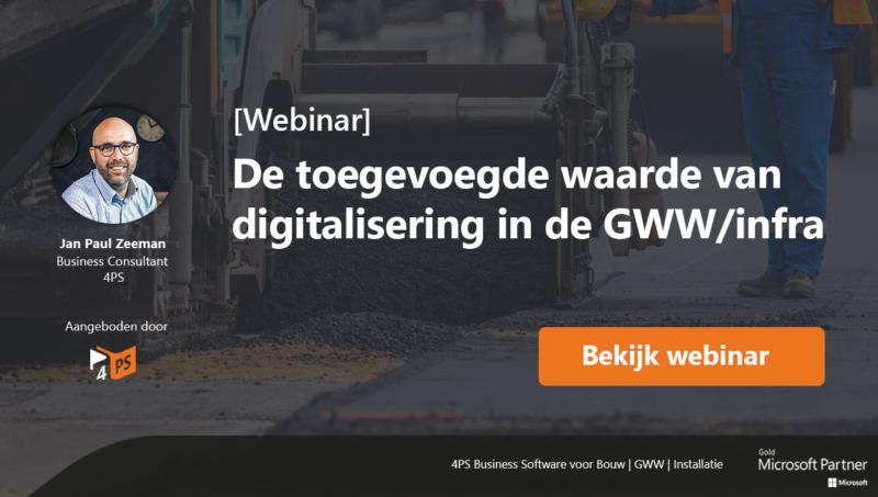 Digitalisering in de GWW/infra