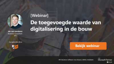 Digitalisering in de bouw
