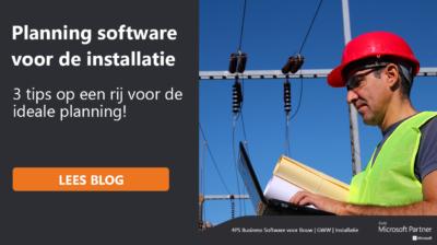 Planning software voor de installatie