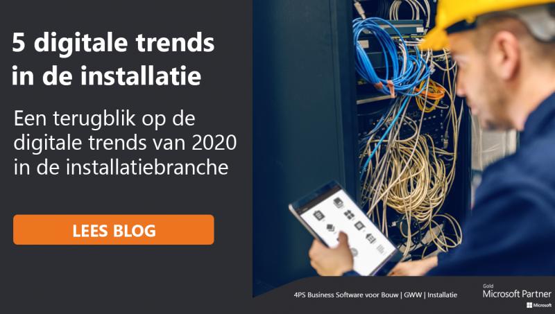 Digitale trends en ontwikkelingen installatiebranche 2020