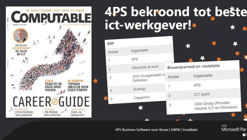 4PS uitgeroepen tot beste ict-werkgever