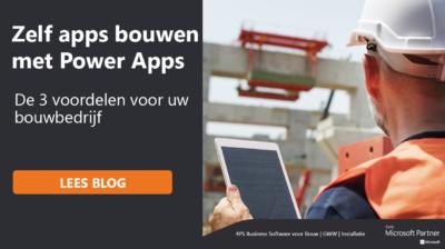 Zelf apps bouwen met Microsoft Power Apps
