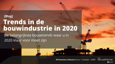 Trends in de bouwindustrie in 2020