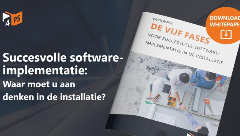 Softwareimplementatie in 5 fases