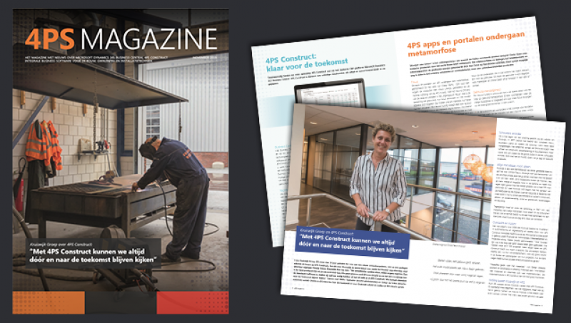 Nieuw 4PS Magazine - november 2019