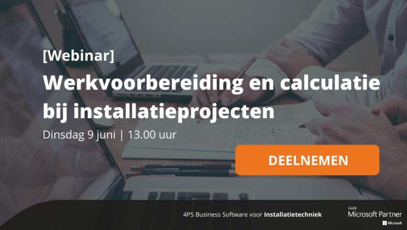 Webinar: werkvoorbereiding en calculatie bij installatieprojecten